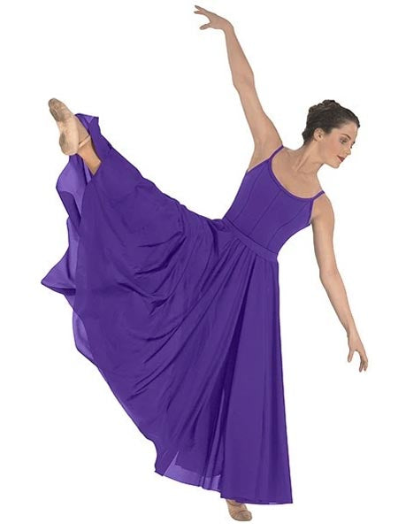 eurotard 13674 simplicity triple panel skirt purple