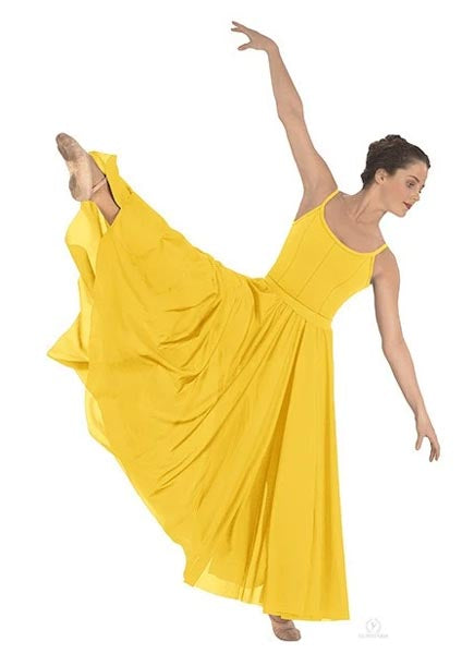 eurotard 13674 simplicity triple panel skirt yellow