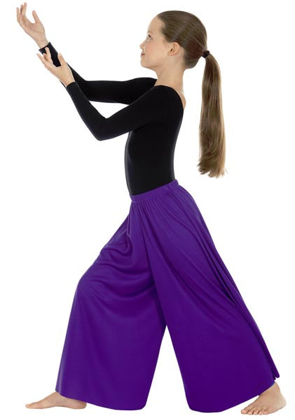 eurotard 13696 child simplicity palazzo pants purple