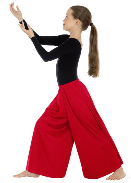 eurotard 13696 child simplicity palazzo pants red