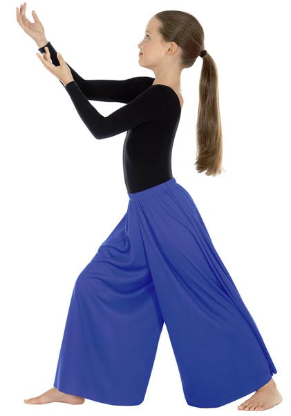eurotard 13696 child simplicity palazzo pants royal