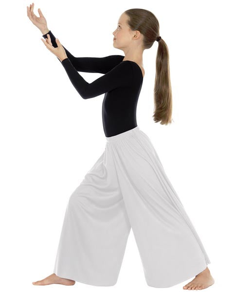 eurotard 13696 child simplicity palazzo pants white