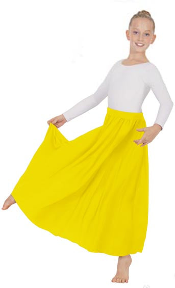 eurotard 13778 girls simplicity single panel skirt yellow