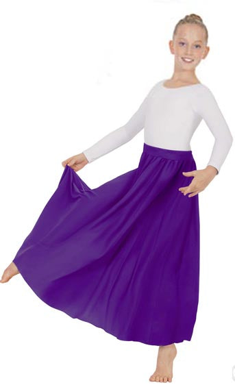 eurotard 13778 girls simplicity single panel skirt purple
