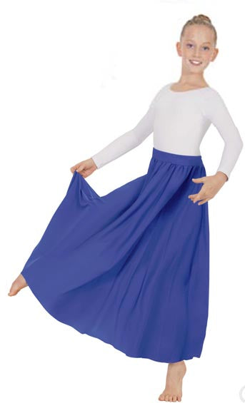 eurotard 13778 girls simplicity single panel skirt royal
