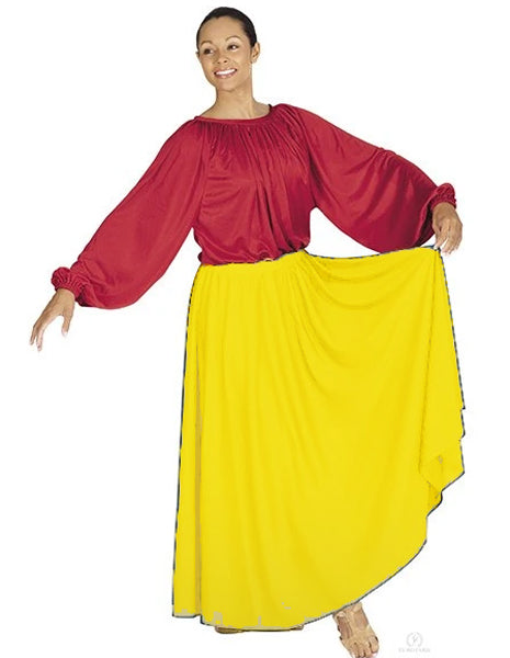 eurotard 13778 simplicity single panel skirt yellow