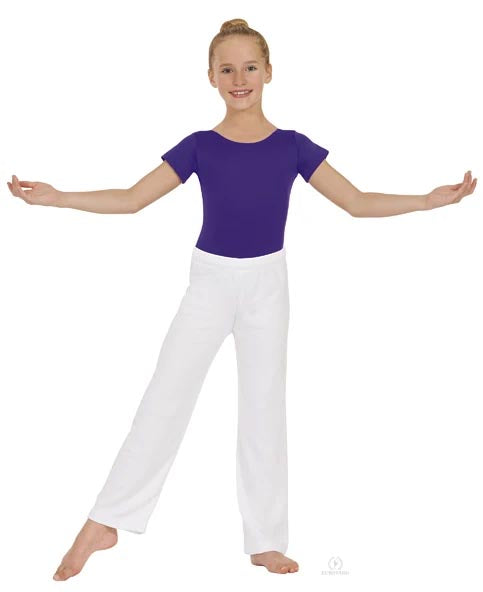 eurotard 13843 unisex relaxed fit pants white