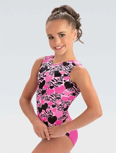 gk e4081 zebra love tank leotard