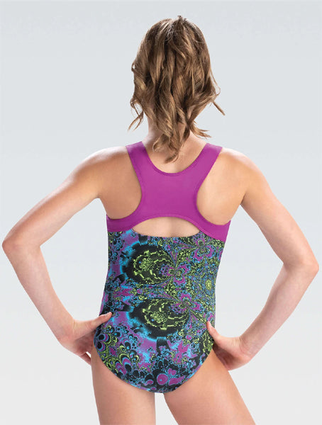 gk elite e4085 moonflower racerback leotard
