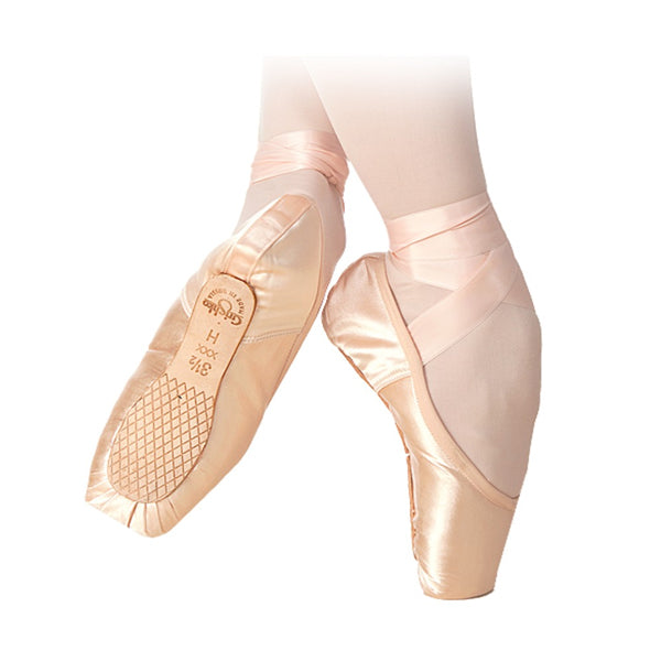 grishko triumph pointe shoe bottom view