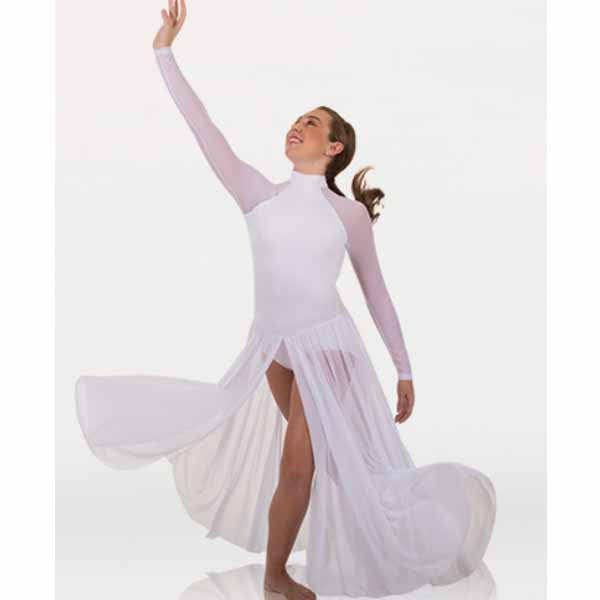body wrappers mt151 girls microtech long sleeve dance dress center