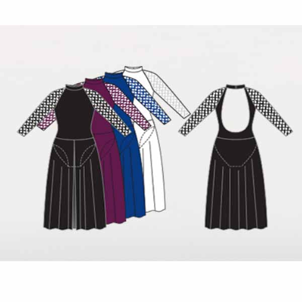 body wrappers mt251 womens microtech long sleeve dance dress color chart