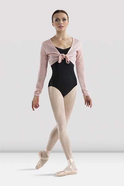 Bloch Z0969 Crop Tie Front Shrug