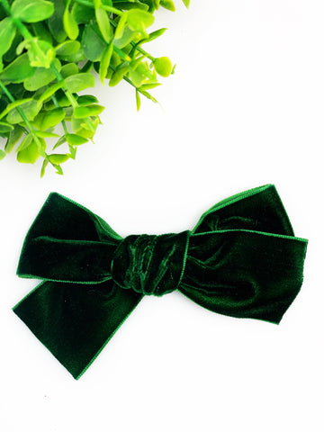 Evergreen Hand Tied Velvet