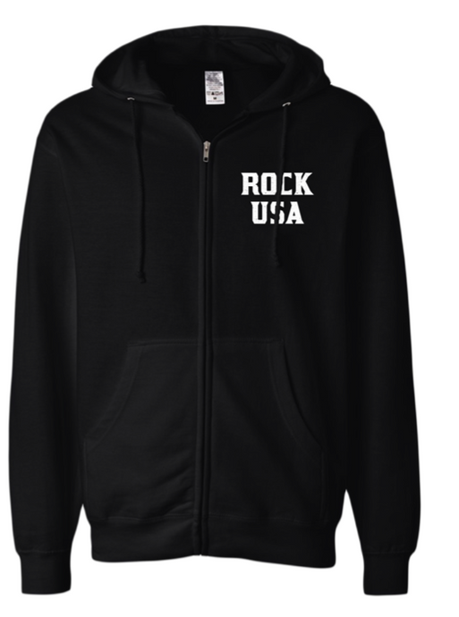 Black Reaper Zip Up Hoodie
