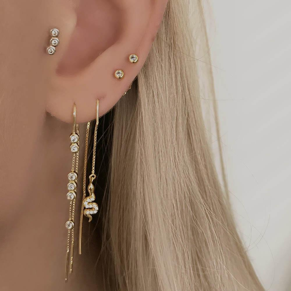 Agua Petite Studs - Gold Plated