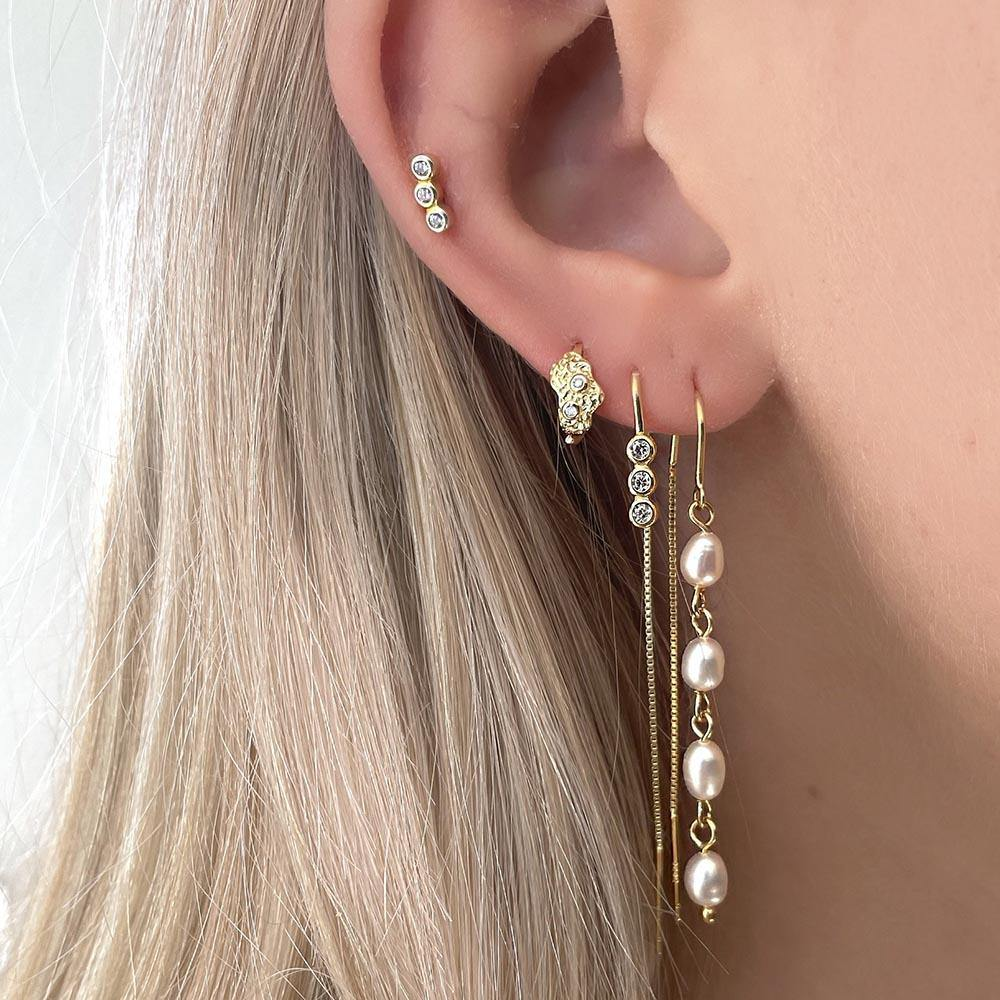 Daisy Earrings - Gold Plated