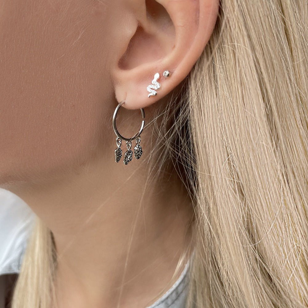 Hali Earrings - Silver