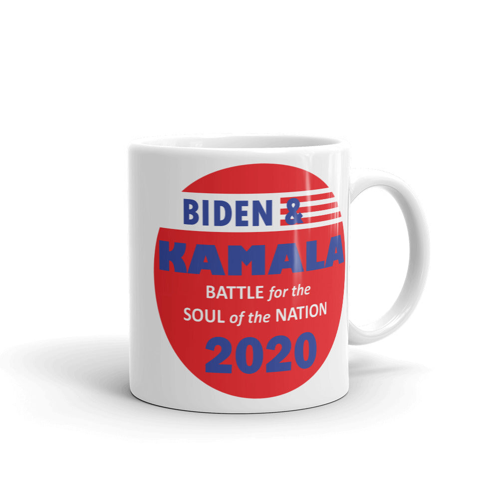 Biden / Harris Battle for the Soul of the Nation - Mug
