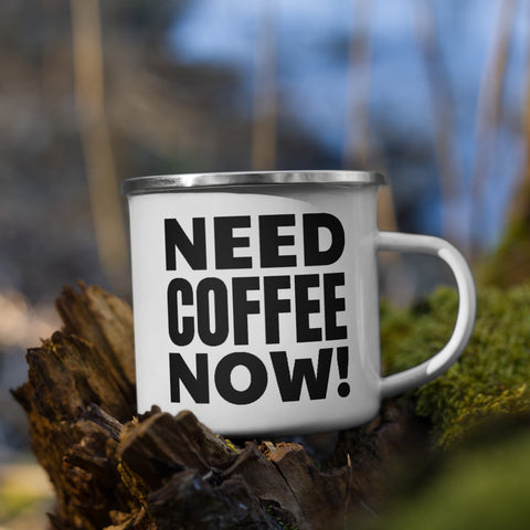I Need Coffee - Enamel Mug