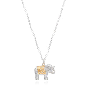 Anna Beck Gold & Silver Elephant Charm Necklace