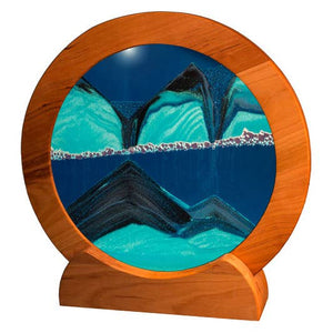Exotic Sands Circle Cherry Wood Ocean Blue