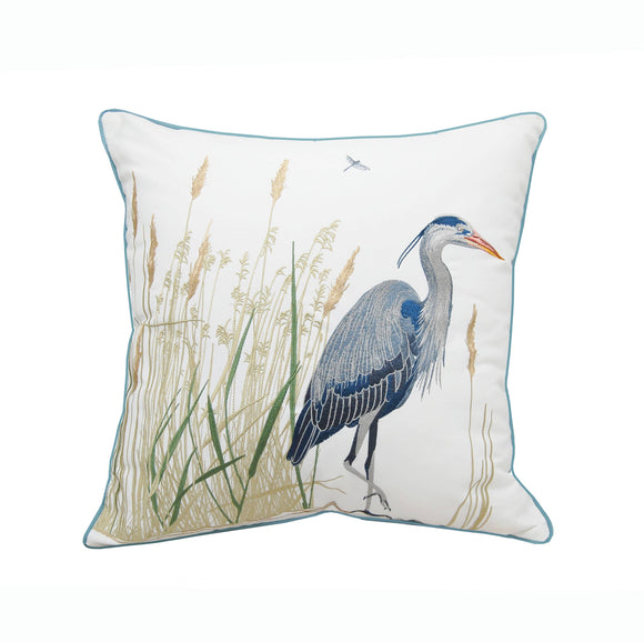 Rightside Design Great Blue Heron Indoor/Outdoor Pillow