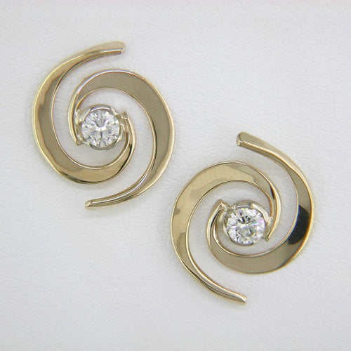 Tom Kruskal Whirlpool Diamond Earrings