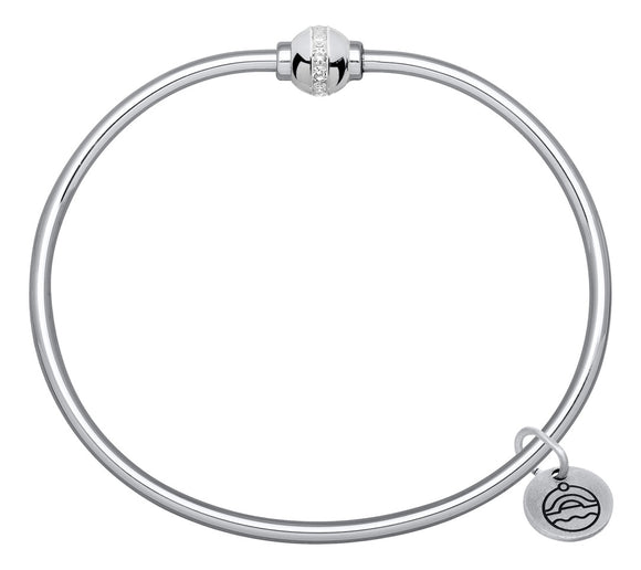 Cape Cod Jewelry Silver Ball with CZs Bracelet