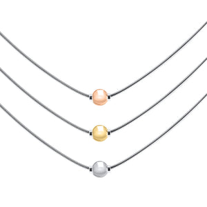 Cape Cod Necklace with Smooth Gold Ball
