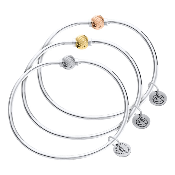 Cape Cod Jewelry Gold Swirl Ball Bracelet