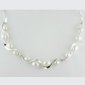Tom Kruskal Ruffle Pearl Necklace