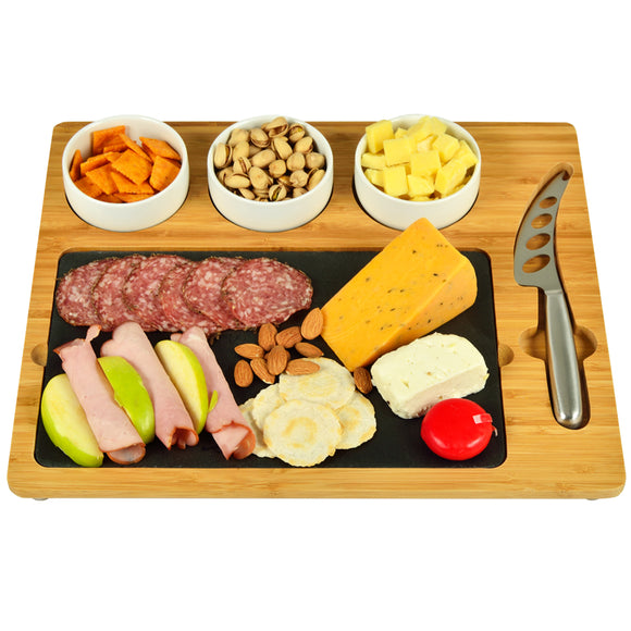 Picnic at Ascot Bamboo/Slate Cheese Board