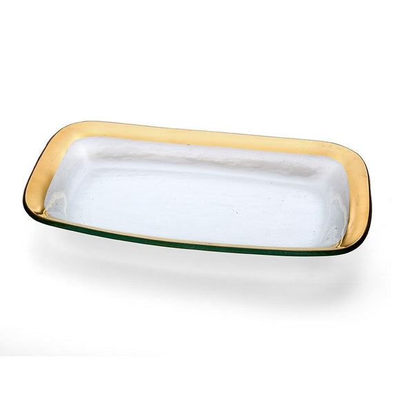 Annieglass Roman Antique Rectangle Asparagus Bowl