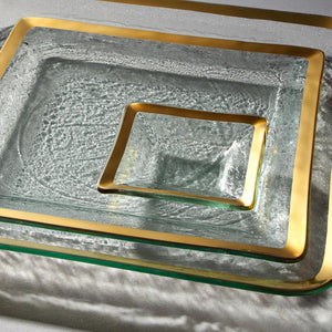 Annieglass Roman Antique Small Square Dish