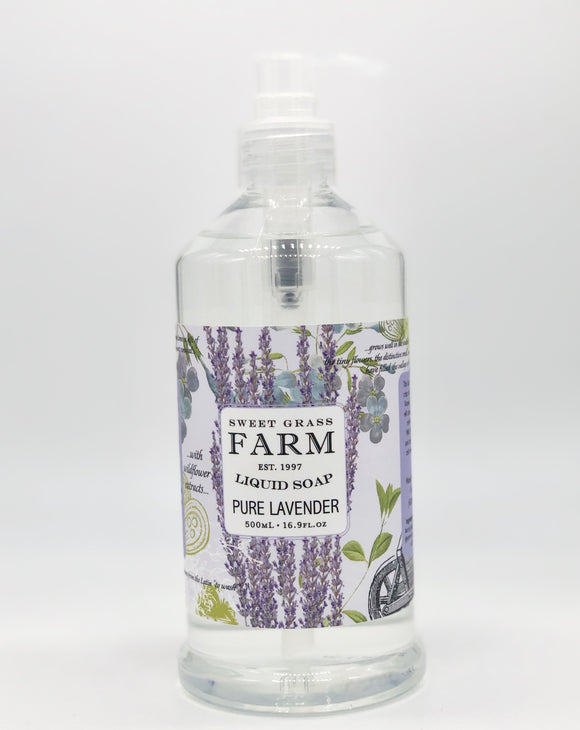 Sweet Grass Farm Meadow Collection Liquid Soap Lavender