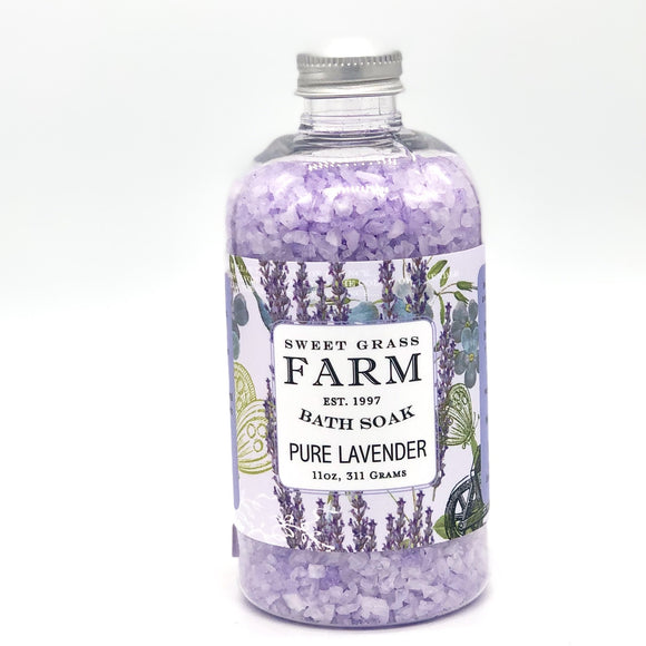 Sweet Grass Farm Meadow Collection Bath Soak Lavender
