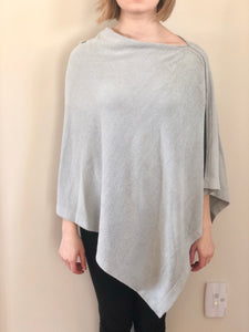 Barefoot Dreams Cozychic Ultra Lite Poncho Blue Water