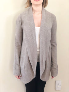 Barefoot Dreams Circle Cardi Pewter Large