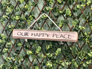 "On Cape Time ""Our Happy Place"" Rope Sign"