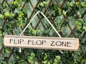 "On Cape Time ""Flip Flop Zone"" Rope Sign"