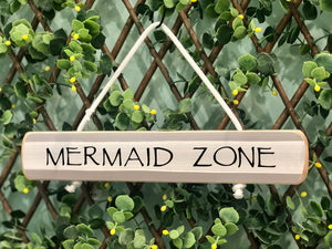 "On Cape Time ""Mermaid Zone"" Rope Sign"