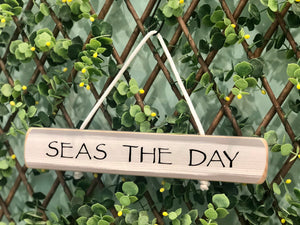 "On Cape Time ""Seas the Day"" Rope Sign"