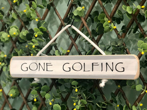 "On Cape Time ""Gone Golfing"" Rope Sign"