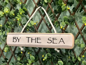 "On Cape Time ""By The Sea"" Rope Sign"