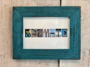"Letters from the Cape ""Mermaid"" Framed Sign"