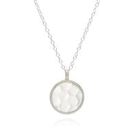 Anna Beck Hammered Gold and Silver Pendant Necklace