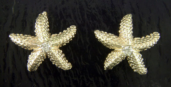 Steven Douglas Gold Starfish Earrings