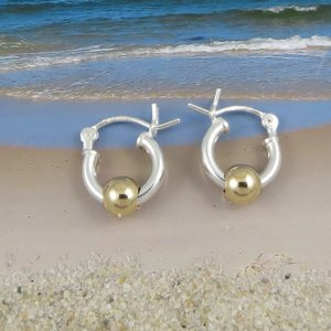 Cape Cod Earring Extra Small with Gold Ball