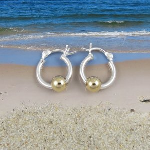 Cape Cod Earrings Small with Gold Ball